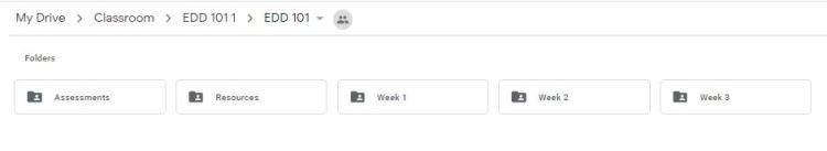 folders google classroom